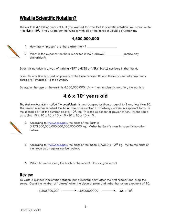 Powers of Minus Ten – Teacher Lesson Plan